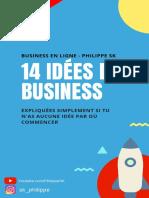 14 Idées de Business - Philippe SK