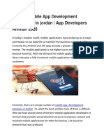 Top 10+ Mobile App Development Companies in jordan | App Developers Amman 2020