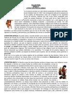 TALLER FINAL 9° LITERATURA PRECOLOMBINA
