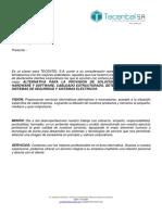 CARTA DE PRESENTACION TECENTEL S.A