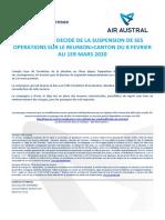 Air Austral suspend ses vols de vers CAN