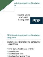 CPU Scheduling Algorithms Simulation Using Java