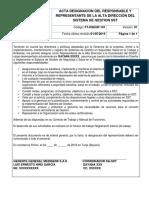ACTA DESIGNACIÓN DEL RESPONSABLE Y REPRESENTANTE DE LA ALTA DIRECCIÓN