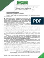 Subiect Comper Romana EtapaI 2019 2020 ClasaVI