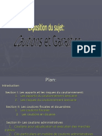 Les cautions et garanties