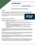 1050 Series Temperature Control Tech Note