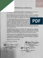 Comunicado N° 010-2020-CE/CAL