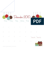 Free December 2010 Calendar
