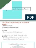 asme ultrasonic examination report