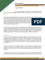 Anti-bribery policy statement -TMA Company