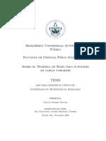 Sobre el teorema de hake para funciones de varias variables