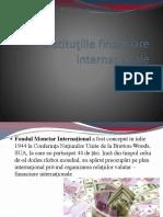 Instituţiile financiare internaţionale