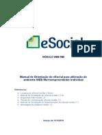 eSocial - Manual do Usuário WEB MEI