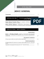 Índice de la revista Actualidad Penal N.° 67
