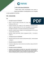 Release notes TAF - HCM
