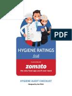 Hygiene Ratings - FSSAI Checklist