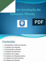 Manual de instalação do Software TPonto