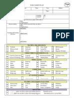CEFR lesson plan sample 2020