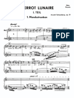 Pierrot Lunaire Flute Mondestrunken