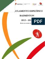 Regulamento Badminton DE