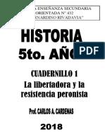 CUADERNILLO N° 1 - LA LIBERTADORA Y LA RESISTENCIA PERONISTA