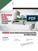 IT6000C Bidirectional Programmable DC Power Supply EN-190410