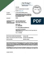 Allarco Alberta Order of ACJ Nielsen  Jan 9, 2020 - filed Jan 16, 2020 .pdf