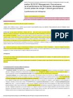 Préparation 38 DCG7 Management_ Gouvernance d'entreprise et performance de l'entreprise; développement structuré avec pistes de corrigé + lecture gouvernance _ Management entreprises et organisations