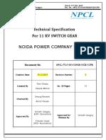11 kV VCB with 1250A IC  OG 12 Panel board 13-05-19