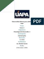 tarea 1 psicologia del desarrollo 2 clarisol
