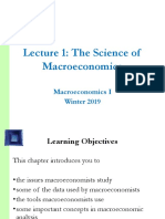 Macroeconomics I, Winter 2018, Lecture 1, The Science of Macroeconomics.ppt