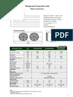 Specs Evaporator assy (R22)