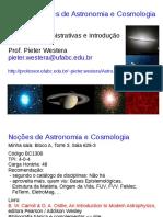 Noções de Astronomia e Cosmologia.  [Prof.Pieter Westera]