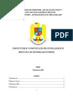 Institutiile comunitatii de intelligence