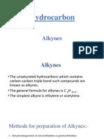 Alkynes