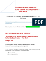 A Framework for Human Resource Management 7th Edition by Gary Dessler – Test Bank