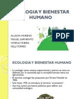 ECOLOGIA Y BIENESTAR HUMANO