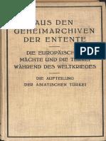 ADAMOW E.die Europaischen Machte Und Die Turkei Die Aufteilung Der Asiatishen Tourkei 1932