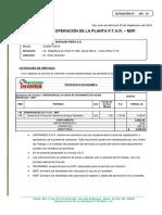 Cotizacion - Operación de la Planta PETAR-MSP.