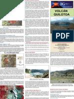 Triptico Quilotoa historia, peligros y sistema de monitoreo