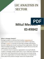 Strategic analysis in energy sector