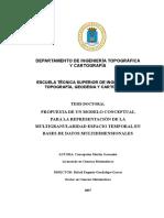 Propuesta de un modelo conceptual para la representacion de la multigraularidad espacio temporal en bases de datos multidimensionales