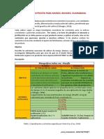 PROPUESTA DE NUTRICIÓN PARA MANGO, GUANABANA, BANANO