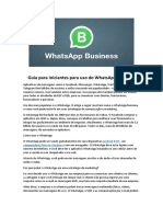 Guia para iniciantes para uso do WhatsApp Business