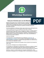 Guia para iniciantes para uso do WhatsApp Business