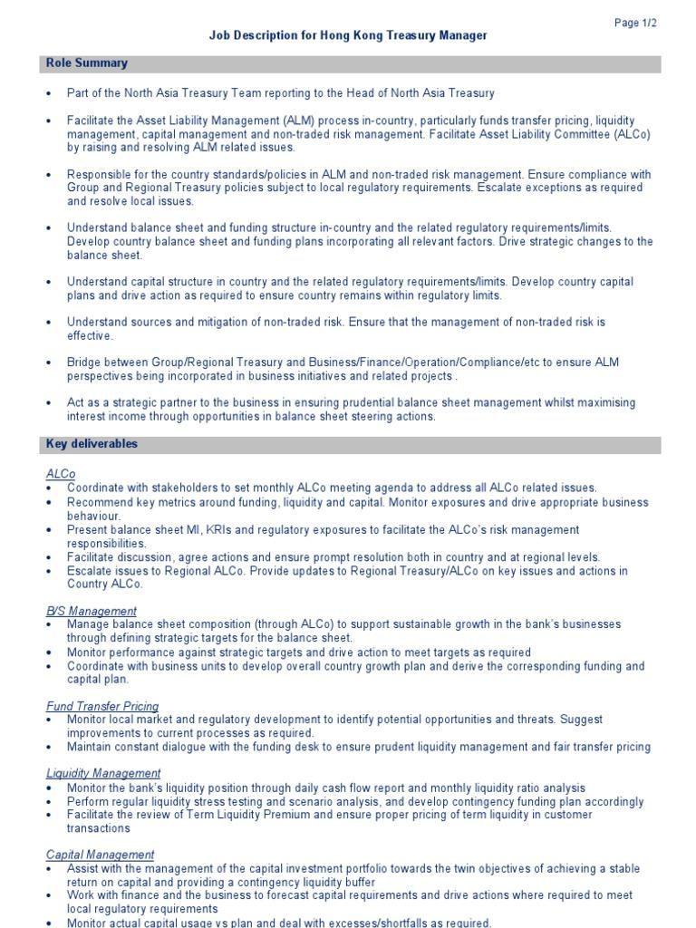 Resume CV Cover Letter school treasurer job description job – Treasurer Job Description