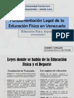 Fundamentación Legal de La Educación Física en Venezuela