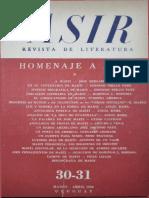 homenaje a Mrtí - revista Asir