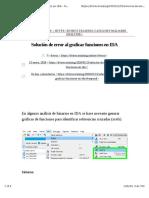 Solución de error al graficar funciones en IDA