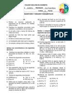 ACTIVIDADES unidades y medidas